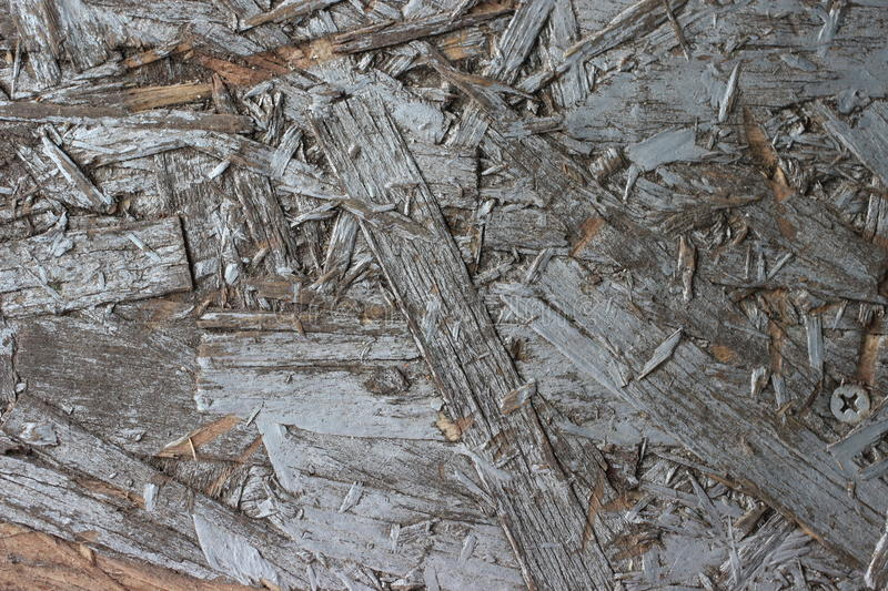 Old gray painted chipboard royalty free stock image