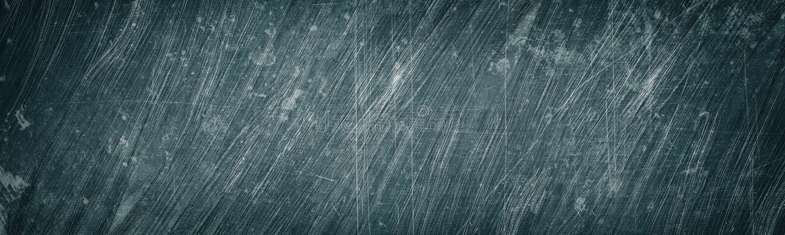 Aged gray scratched and stained metal wide texture. Shabby metallic surface panorama. Dark retro grunge panoramic background stock photos