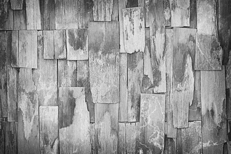 Old gray wood wall texture for background and shadow royalty free stock image