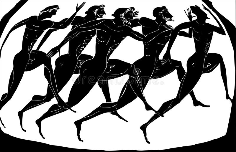 Download Old greece athletes stock vector. Illustration of olympiad - 13018832