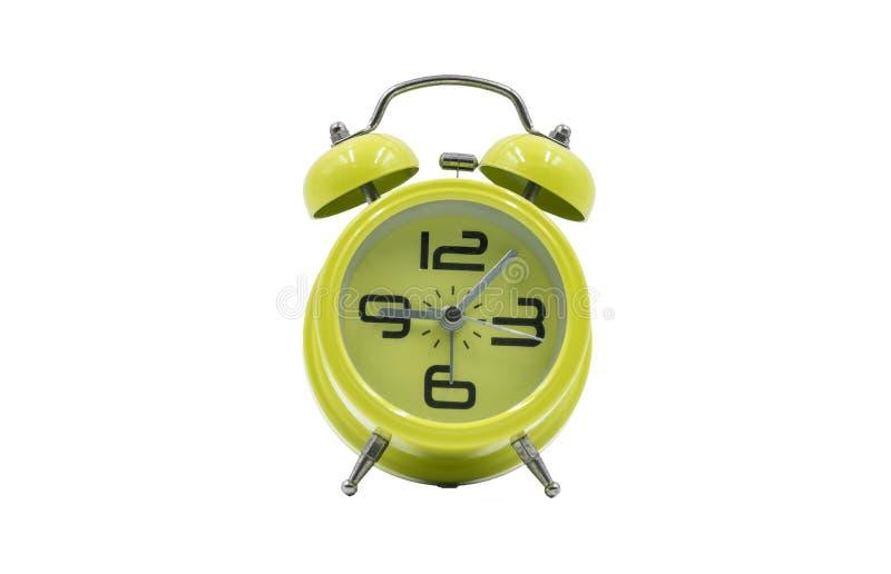 Old green alarm clock royalty free stock photos