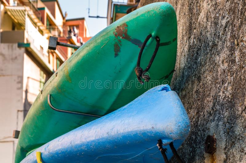 Fiberglass Canoes stock photo