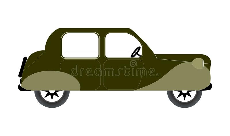 Old green car. Miniature of an old green car royalty free illustration