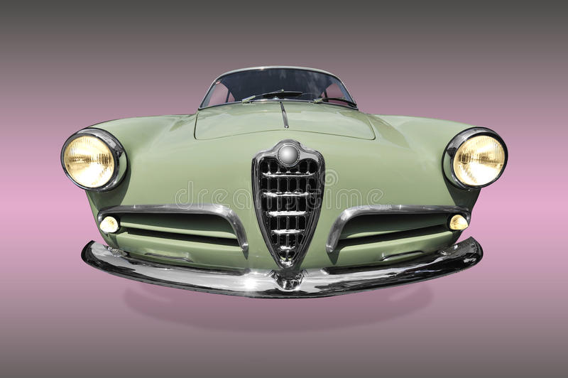Download Old green car stock image. Image of retro, lights, classic - 14186327
