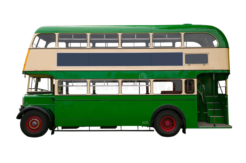 Download Old Green Double Decker Bus Royalty Free Stock Photos - Image: 2805858