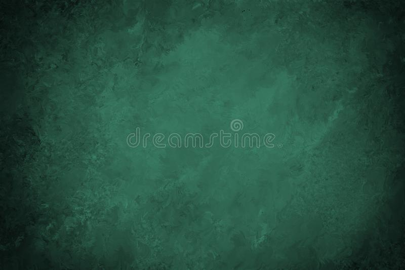 Old green paper background with black border and vintage marbled texture royalty free illustration