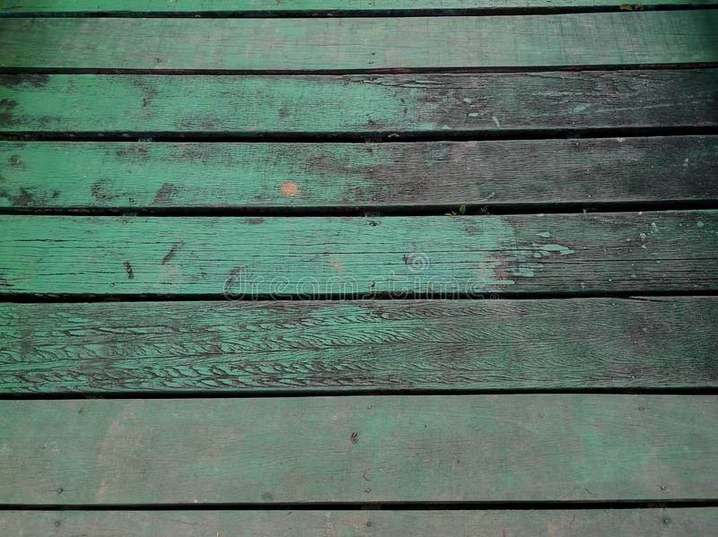Old Green pastel wood planks texture background. stock image
