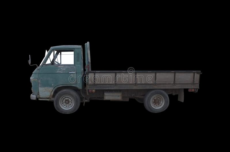 Old green pickup truck royalty free stock image