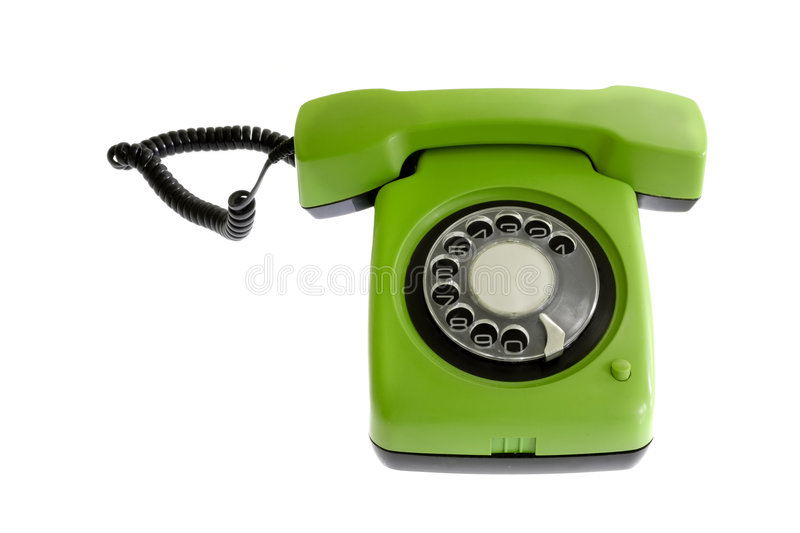 Old green telephone royalty free stock photography