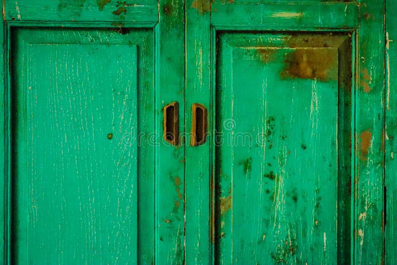 The old green window royalty free stock photo