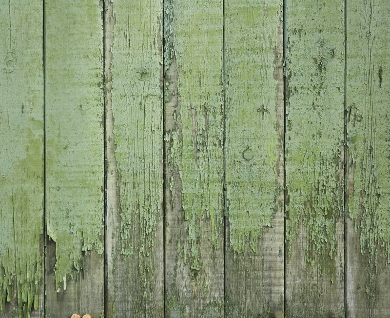 Old green wooden fence. Perfect grunge background stock images