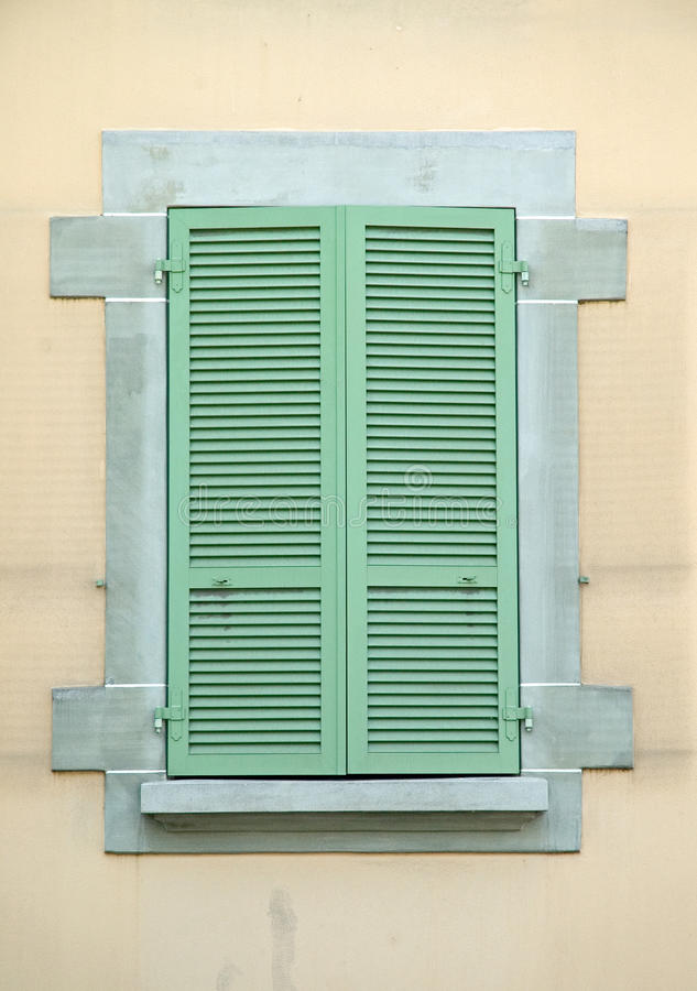 Old Green Wooden shutters