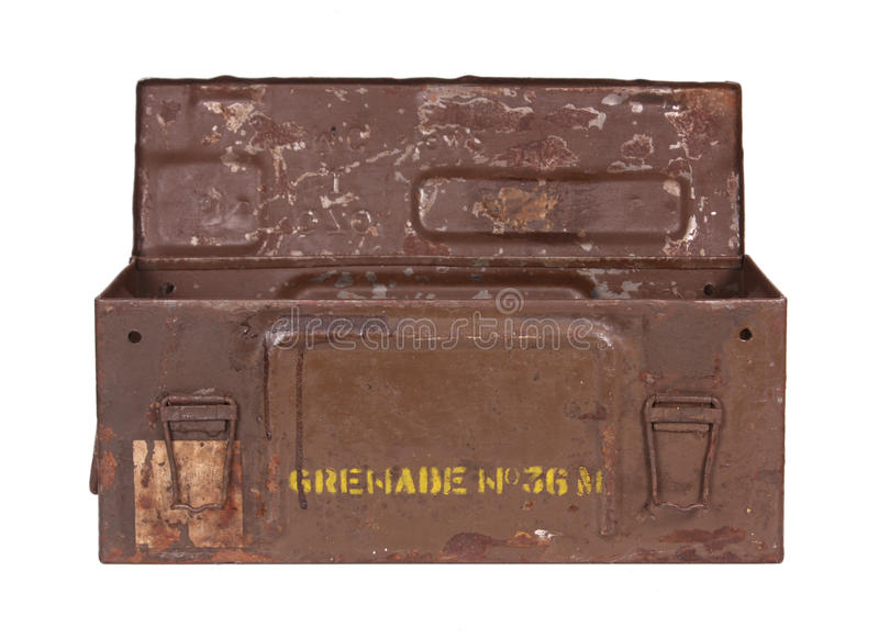 Download Old Grenade Box stock photo. Image of antique, military - 40249144