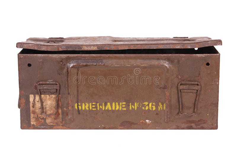 Download Old Grenade Box stock photo. Image of rusty, grenade - 40249148