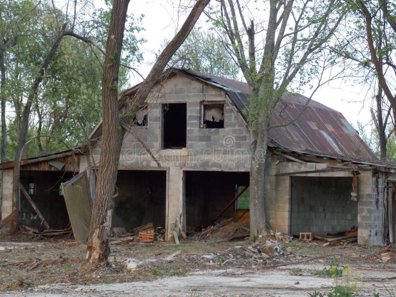 Old Grey Barn stock photos