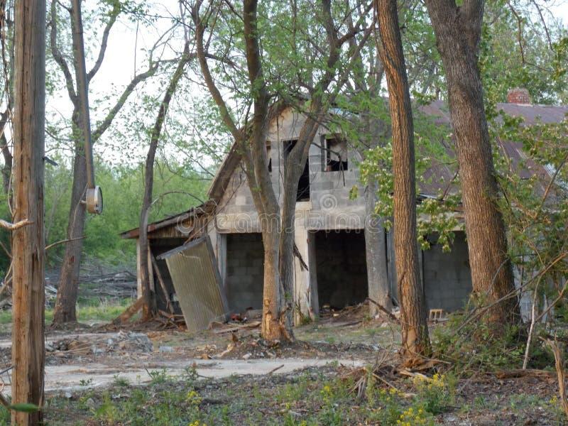 Old Grey Barn stock image