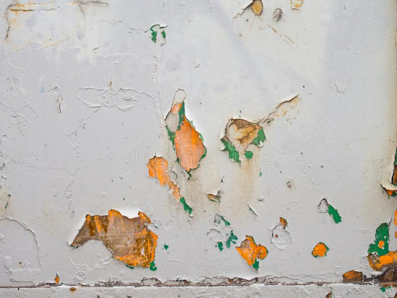 Old grey cracked painting texture. Foreground of old grey cracked painting texture royalty free stock photography