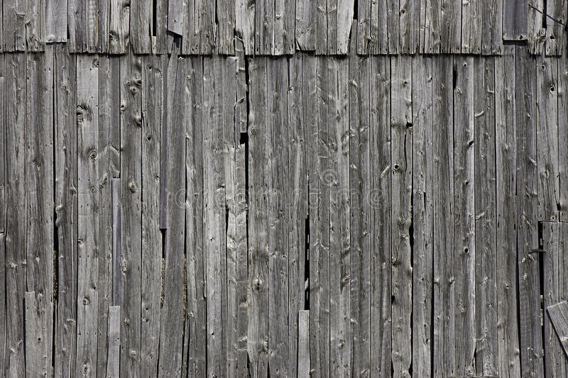 Old grey farm wood. Grey wood of an old barn. Photo taken in Southwest-Ontario, Canada, in May 2015 royalty free stock image