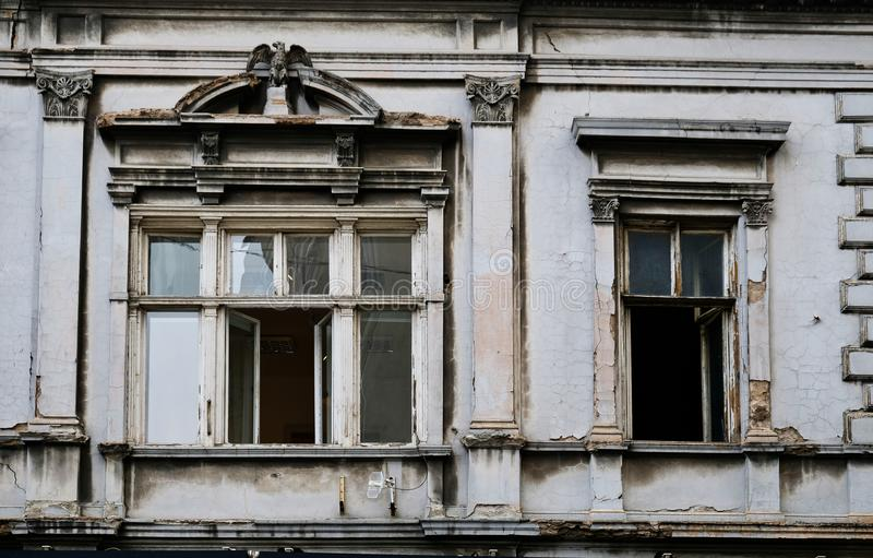 Old Grey House, Belgrade City, Serbia stock images