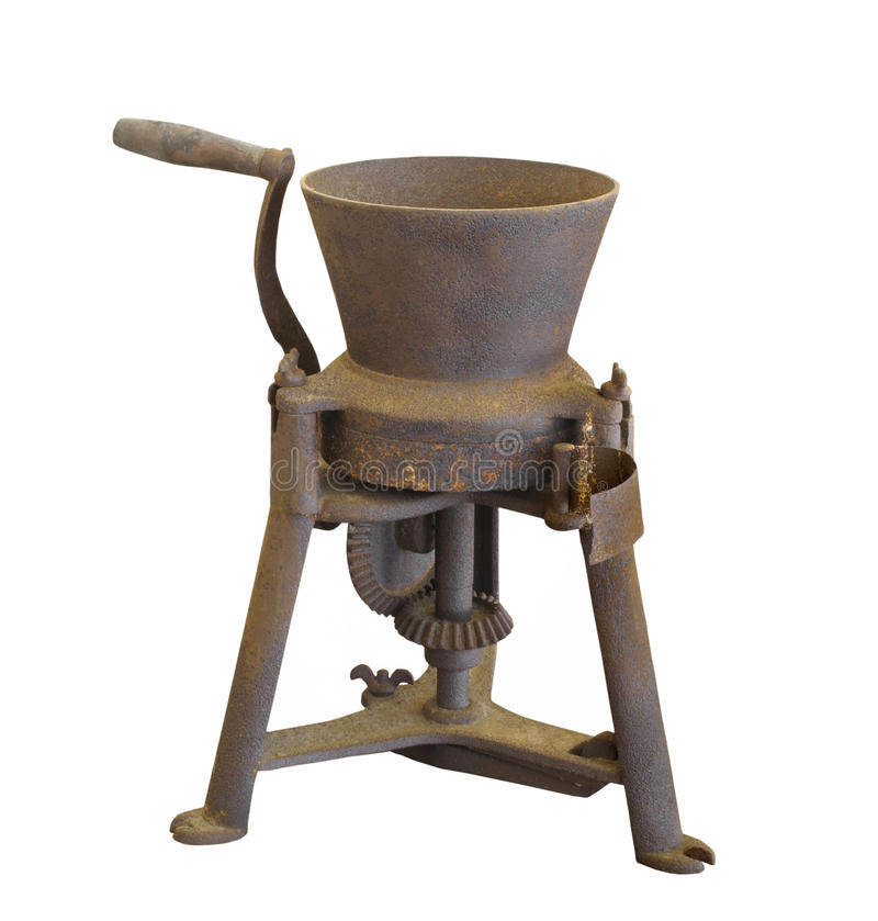 Free Old Grinding Mill Isolated. Royalty Free Stock Images - 35794489
