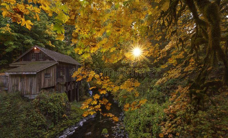 Old Grist Mill in the fall. royalty free stock image