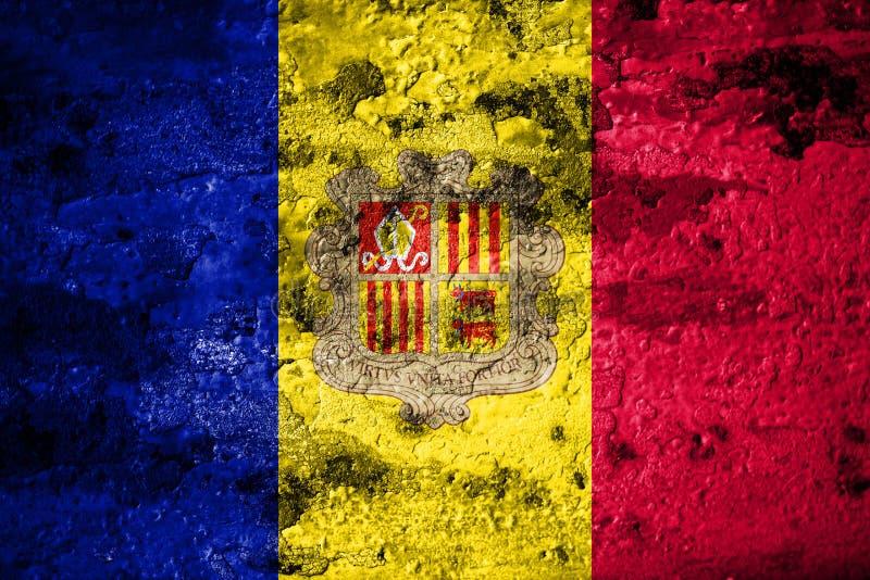 Old grunge Andorra background flag.  royalty free illustration