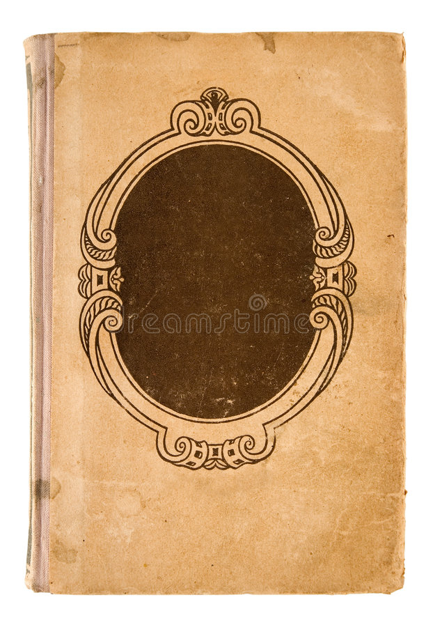 Old Fashioned Book Cover : Old grunge book cover with path stock image of