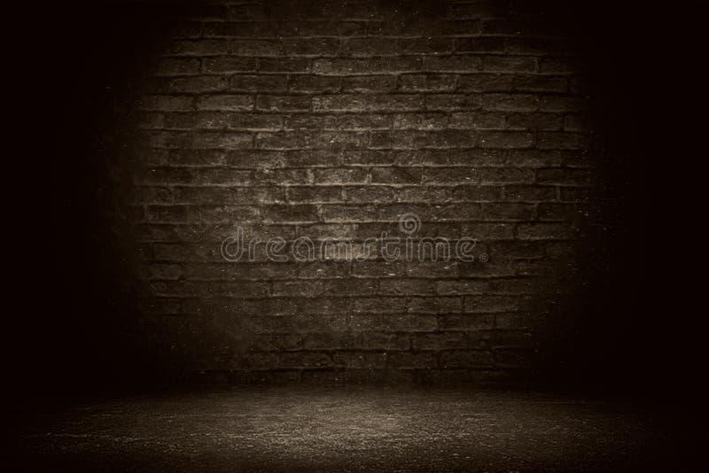 Old grunge brick wall background. Dark black brick wall texture stock photos