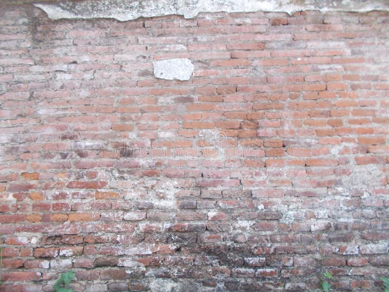 Old Grunge brick wall, old brickwork on panoramic view royalty free stock images