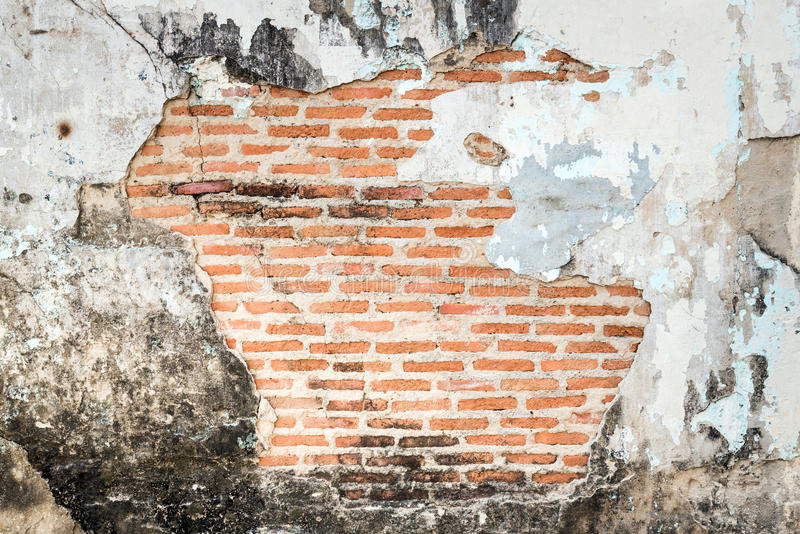 Old grunge brick wall fragment background. royalty free stock photo