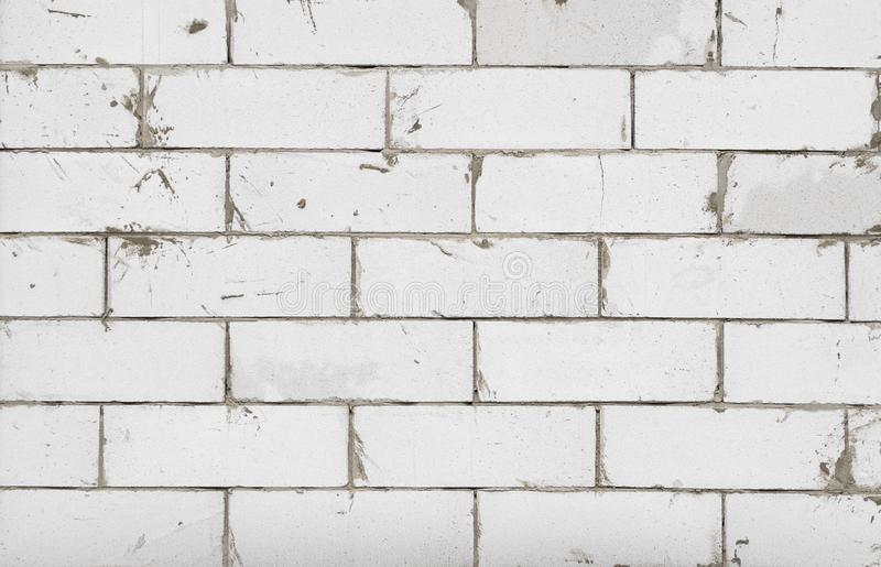 Old grunge brick white wall background or texture. royalty free stock photos