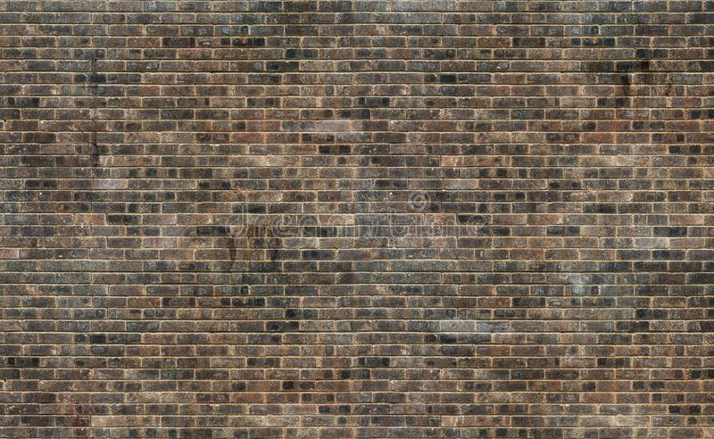 Old grunge brown brick wall texture background stock images