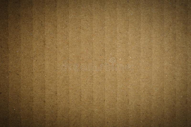 Old grunge brown craft paper texture for background stock image