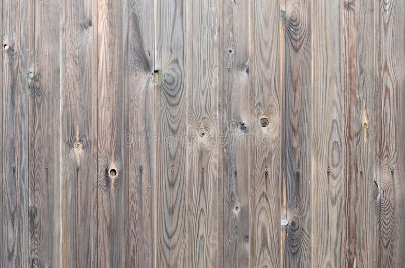 Old grunge dark brown wood panel pattern with beautiful abstract grain surface texture, vertical striped background or backdrop in. Architectural material royalty free stock image