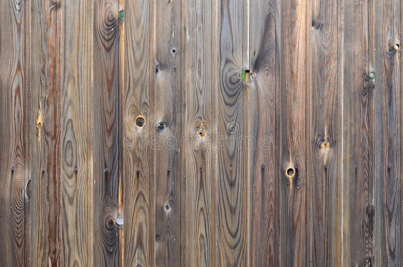 Old grunge dark brown wood panel pattern with beautiful abstract grain surface texture, vertical striped background or backdrop i royalty free stock image