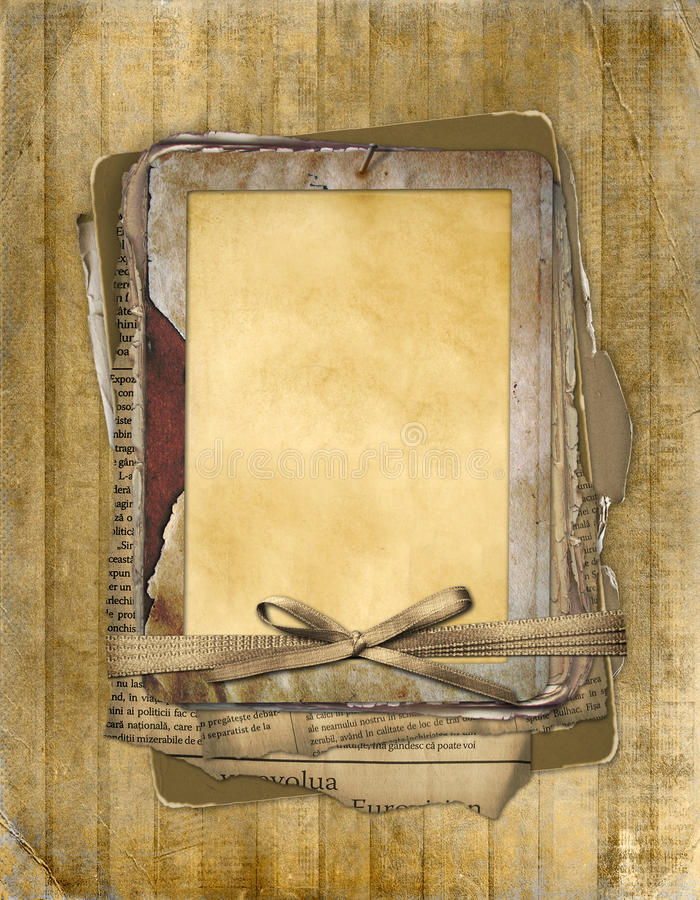 Download Old Grunge Frame On The Abstract Background Stock Illustration - Image: 10817181