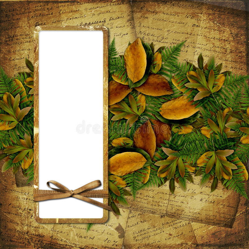 Old grunge frame on the abstract background stock illustration