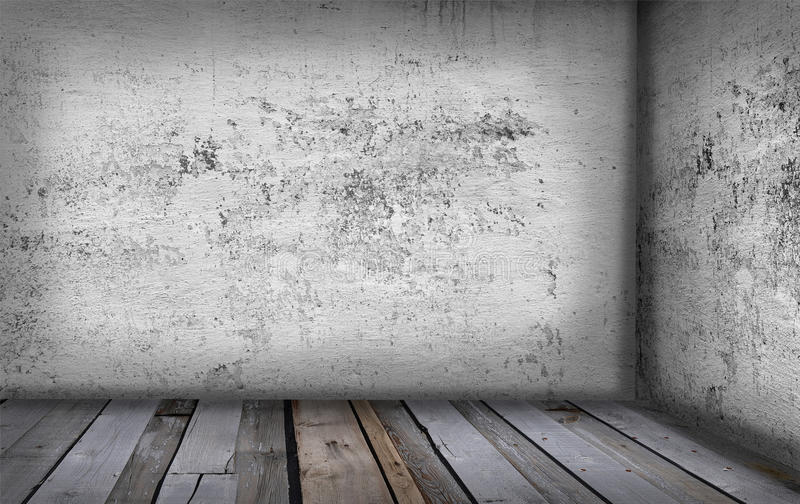 Old grunge interior stock photography