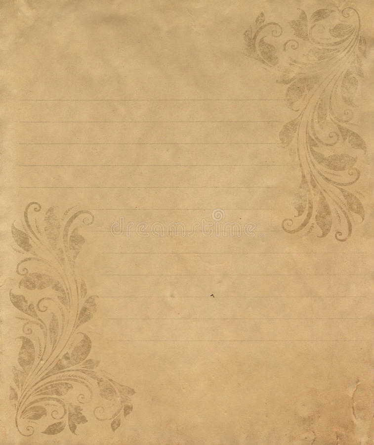 old grunge letter paper stock photo image of classic