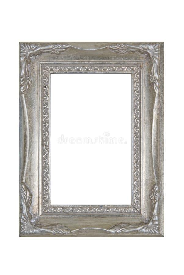 Old grunge metallic photo frame stock photo