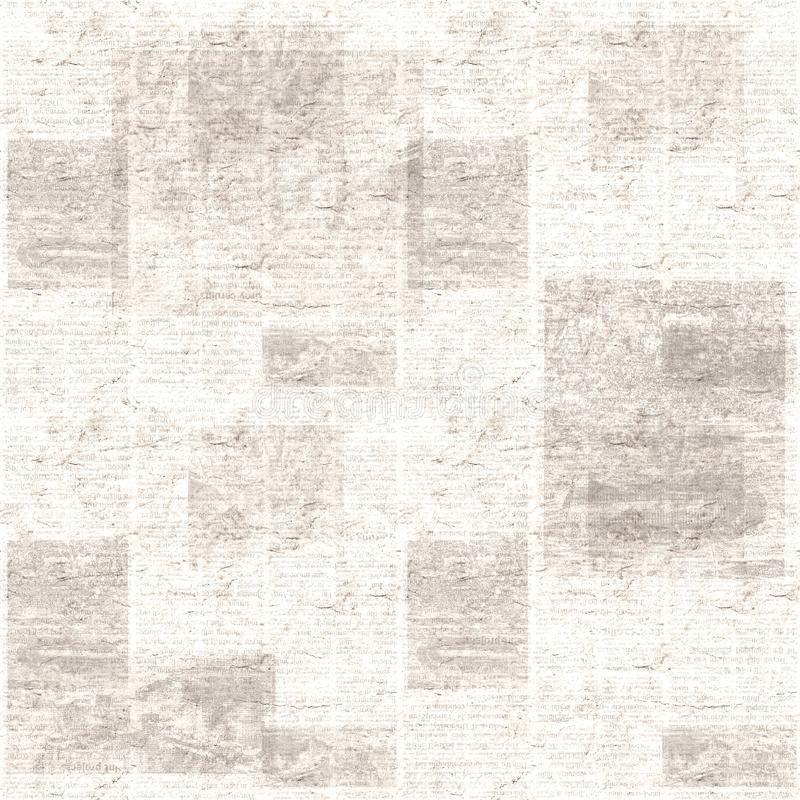 Vintage grunge newspaper collage texture background stock images