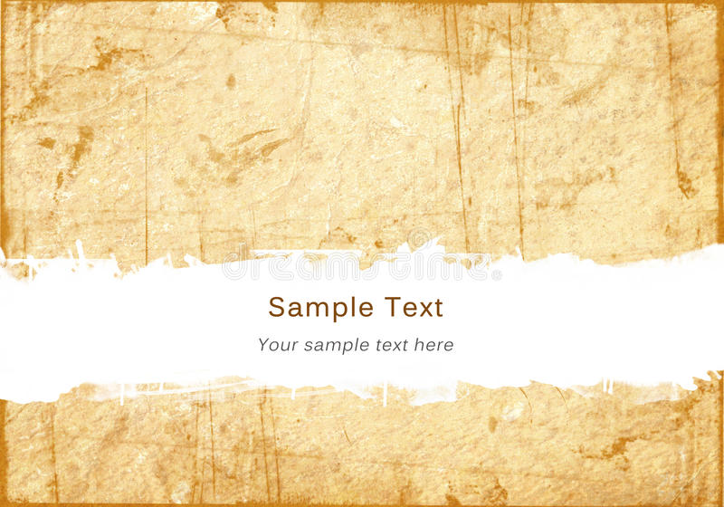Old grunge paper with scratch space royalty free stock photo