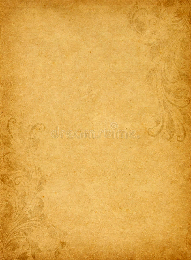 Old grunge paper with vintage victorian style stock photography