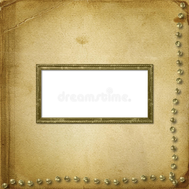 Old grunge photoalbum for photos. Or cards royalty free illustration