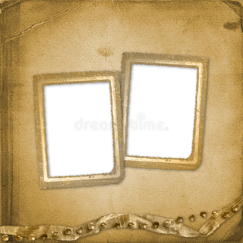 Old grunge photoalbum for photos. Or cards vector illustration