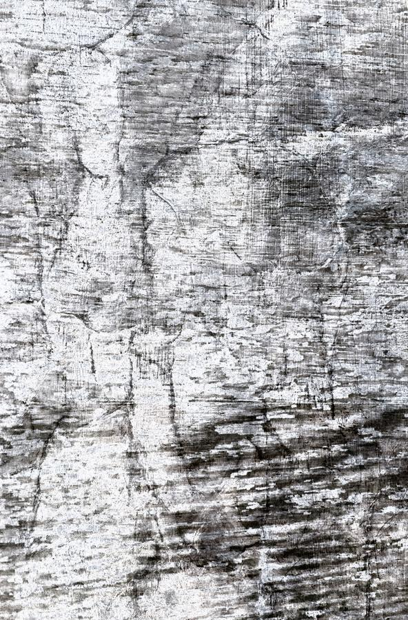 Old grunge texture in black and white for graphic art projects, distessed worn and rustic grungy scratches grain and wrinkled crea royalty free stock photography