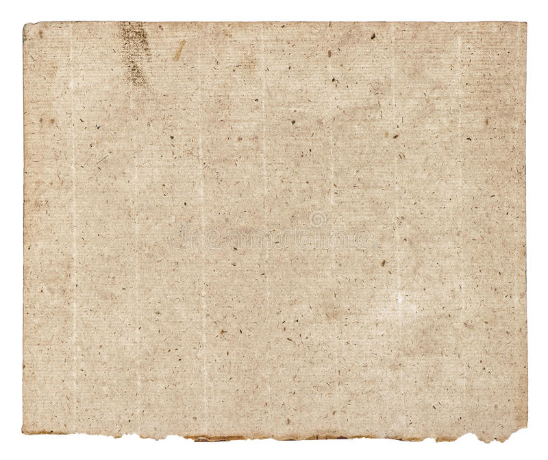 Old grunge textured paper sheet royalty free stock photos