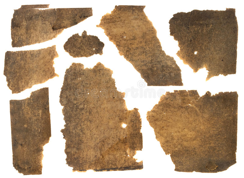 Old grunge torn paper stock image