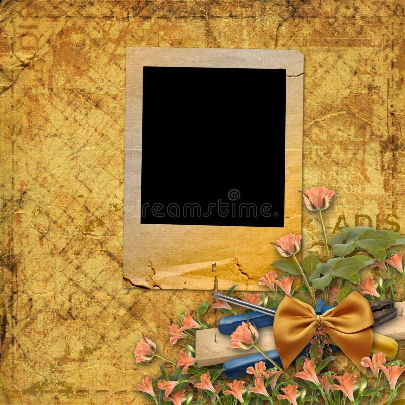 Download Old grunge torn slides stock illustration. Image of letter - 23360911