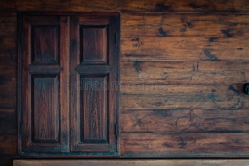 Old grunge wood simple window. wooden surface stock photos